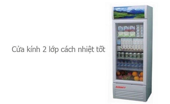 Tủ mát Sanaky VH-308K 240 lít có cửa kính 2 lớp