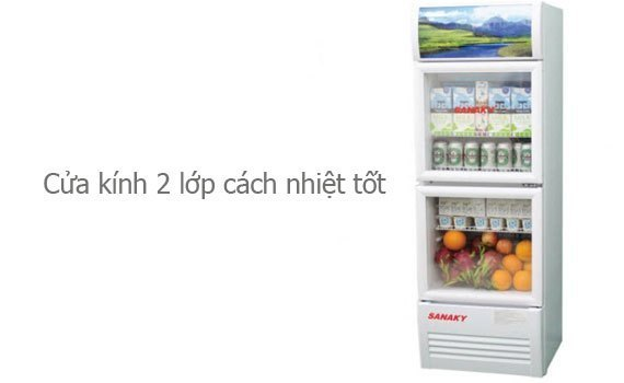 Tủ mát Sanaky VH-308W 240 lít tiết kiệm điện năng