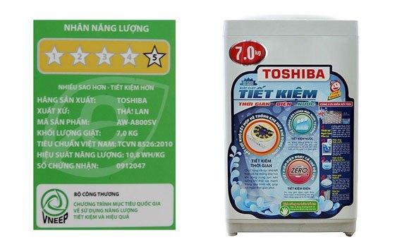Máy giặt Toshiba AW-A800SV 7 kg xám giá tốt tại nguyenkim.com
