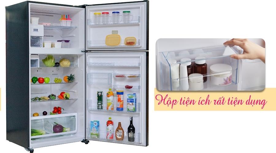 Tủ lạnh giá tốt. Tủ lạnh Toshiba 546 lít GR-WG58VDAZ xanh