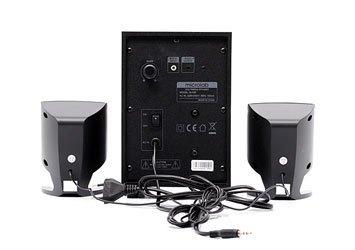 Loa vi tính Microlab M-108 màu đen mang thiết kế thân thiện