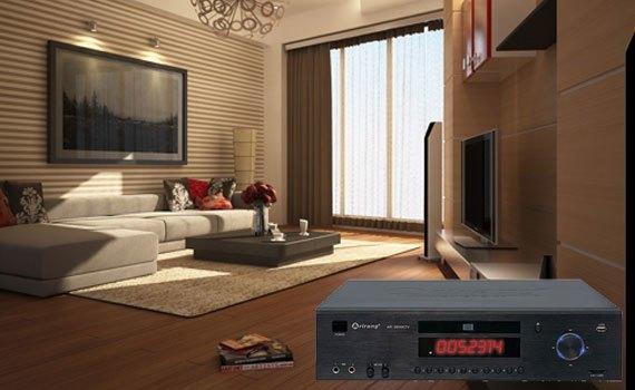 Đầu DVD Arirang AR-3600KTV thiết kế nhỏ gọn sang trọng.
