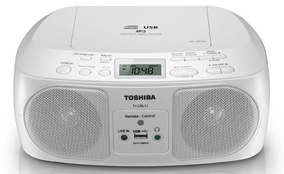 Máy cassette Toshiba TY-CRU12 thiết kế đẹp và hiện đại