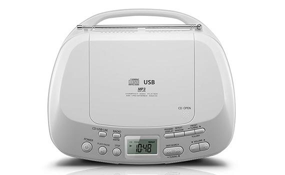 Máy cassette Toshiba TY-CRU12 nghe nhạc từ USB, CD, nghe FM