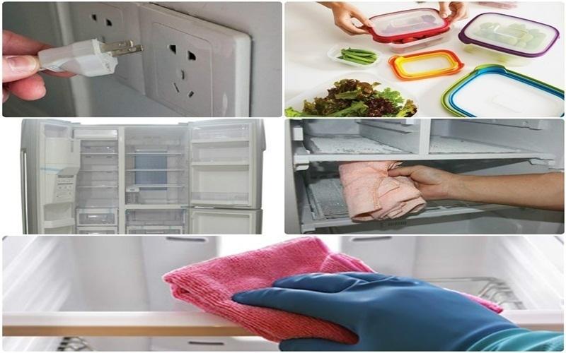 Điều quan trọng trong việc khử mùi là phải vệ sinh tủ lạnh thường xuyên