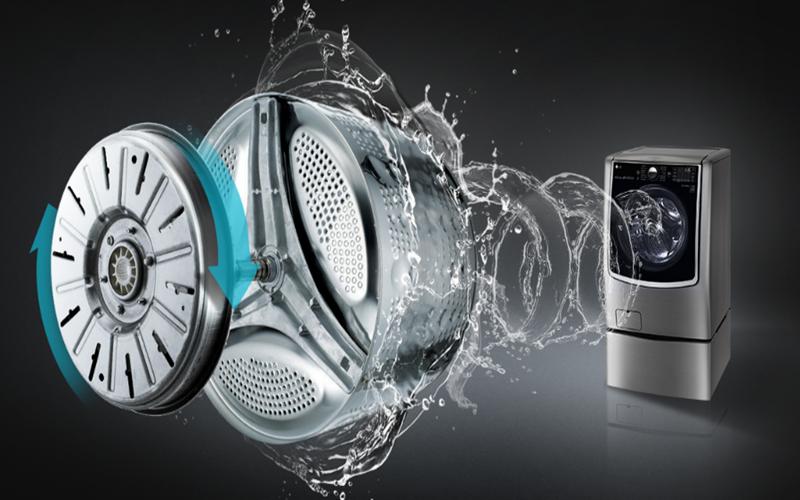 Máy giặt LG TwinWash sử dụng động cơ dẫn truyền trực tiếp Inverter