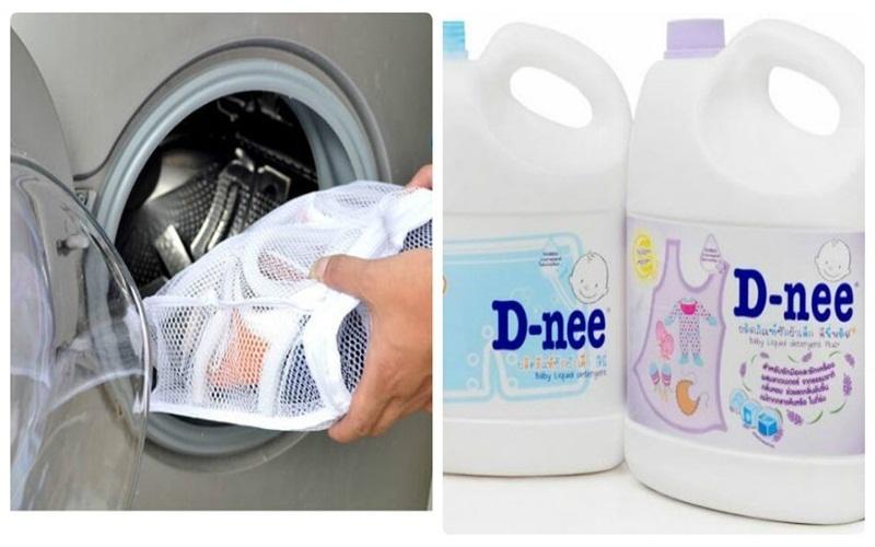 Chọn chế độ nước lạnh và để vào một ít nước tẩy để giặt giày hiệu quả hơn