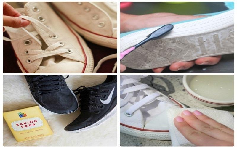 Bước chuẩn bị giày rất quan trọng trước khi  giặt bằng máy giặt