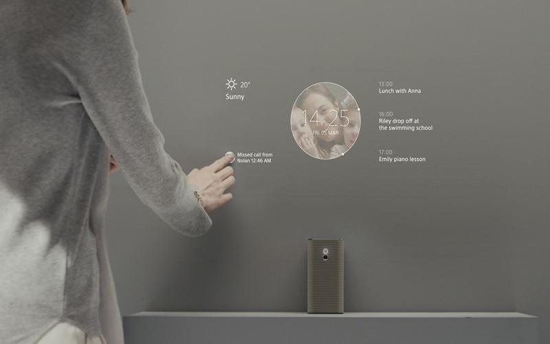Có ngay một bảng thông báo điện tử trên tường nhà với Xperia Touch