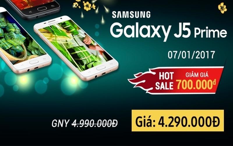 Hot Sale của sản phẩm Samsung Galaxy J5 Prime tại Nguyễn Kim