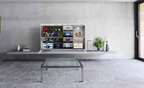 Internet tivi Panasonic TH-55DS630V thiết kế mỏng, hiện đại