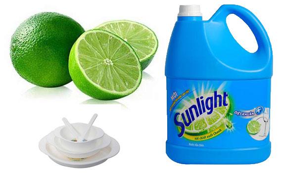 Nước rửa chén Sunlight diệt khuẩn 3.8 kg cho hương chanh thơm mát