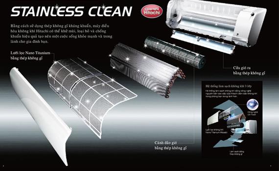 Máy lạnh Hitachi RAS-X18CX 2.0 HP lưới lọc Nano Titanium Wasabi