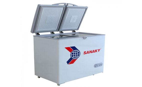 Tủ đông Sanaky VH-255W2 dễ vệ sinh, lau chùi