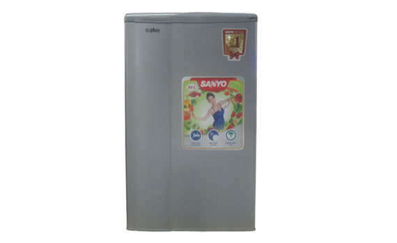 Tủ lạnh Sanyo SR-9JR(SS) 90 lít thiết kế nhỏ xinh, trang nhã, hiện đại