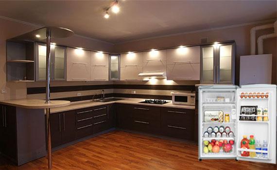Tủ lạnh Sanyo SR-9JR(SS) vận hành cực êm trong gian bếp nhỏ xinh