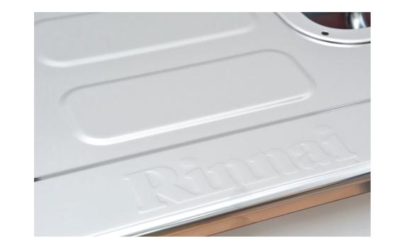 Bếp gas Rinnai RV-370(SM)N mặt bếp bằng thép không rỉ, dễ lau chùi