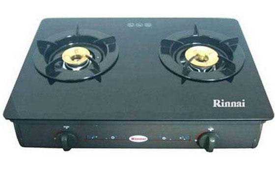 Bếp gas Rinnai đôi RV-8711(GL-B) nhỏ gọn với thiết kế hiện đại và tiện dụng