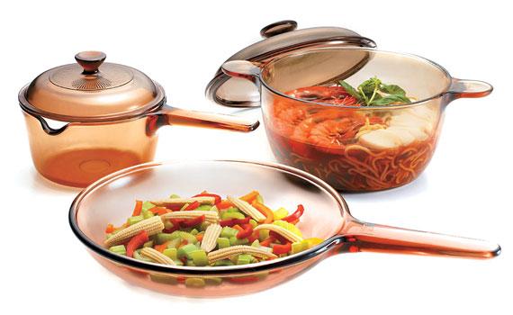 Bộ 3 nồi thủy tinh Visions VS-329 nấu trên nhiều loại bếp