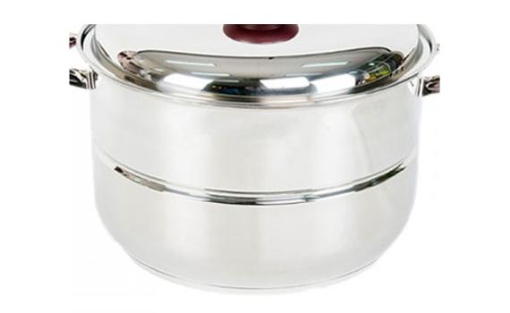 Bộ xửng inox Happycook ST32-2 thân nồi làm từ inox không rỉ, tỏa nhiệt nhanh