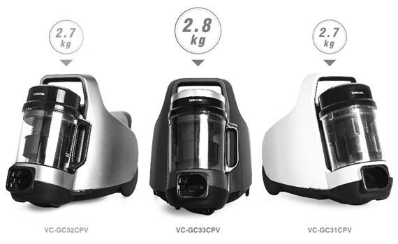 Máy hút bụi Toshiba VC-GC31CPV-W thiết kế nhỏ gọn