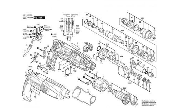 Máy khoan búa Bosch GBH 2-18 RE hiệu suất hoạt động cao