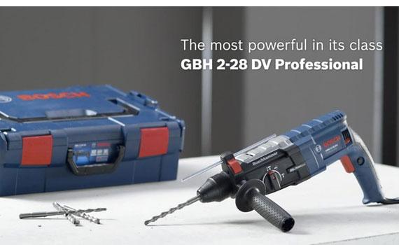 Máy khoan búa Bosch GBH 2-28 DV hiệu suất hoạt động cao