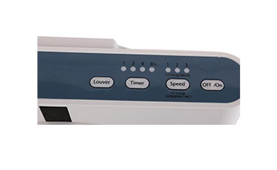 Quạt hộp KDK SC30X bảng điều khiển với các nút tối giản, dễ sử dụng