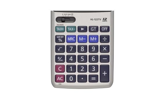 Máy Tính Casio HL122TV sử dụng bàn phím chắc chắn, chữ nổi sắc nét