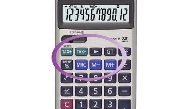 Máy Tính Casio HL122TV chức năng nhớ và tính thuế với tổ hợp phím bấm