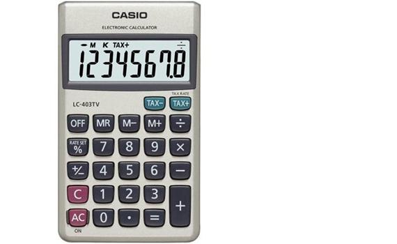Máy tính Casio LC403TV giá rẻ khuyến mãi ưu đãi quà tặng tại nguyenkim.com