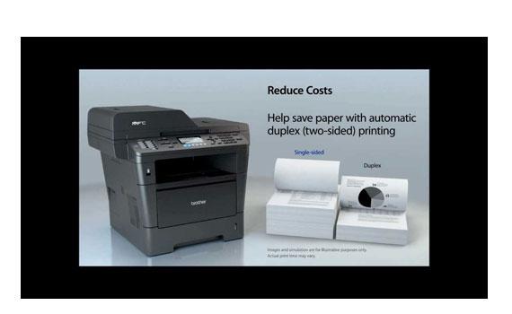 Máy in laser Brother MFC-8910DW nhân đôi khối lượng tài liệu