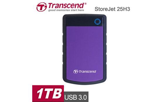 Ổ cứng di động Transcend StoreJet TS1TSJ25H3P dung lượng lưu trữ 1TB