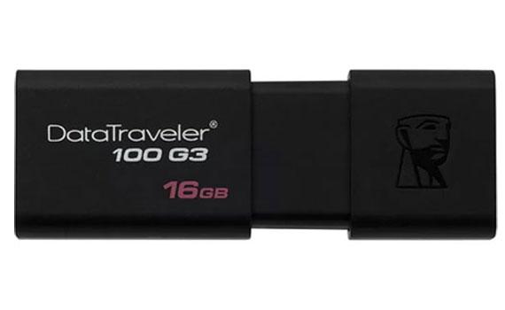 USB Kingston 16GB DT100G3 dung lượng lưu trữ 16gb