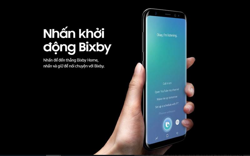 Có một nút nhấn riêng biệt dành cho trợ lý ảo Bixby