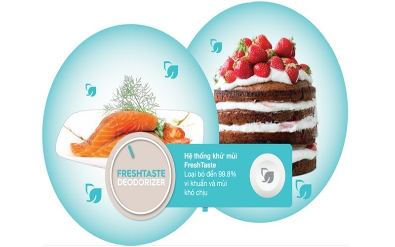 Hệ thống khử mùi FreshTaste giúp loại bỏ vị khuẩn và mùi hôi