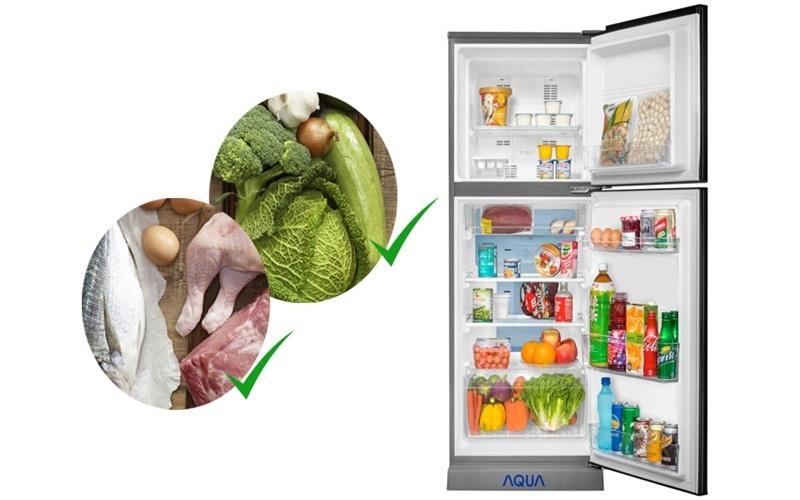 Dung tích lớn của tủ lạnh cho bạn dễ dàng lưu trữ nhiều thức ăn hơn