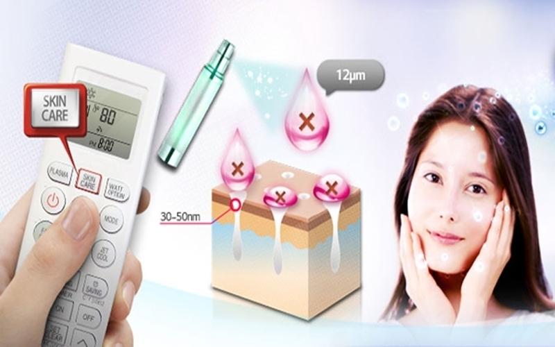 Không chỉ diệt khuẩn máy lạnh LG của giúp bạn chăm sóc da