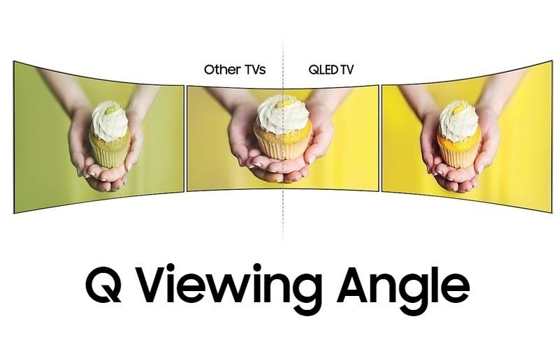 Mọi góc nhìn trên tivi QLED đều trở nên toàn diện