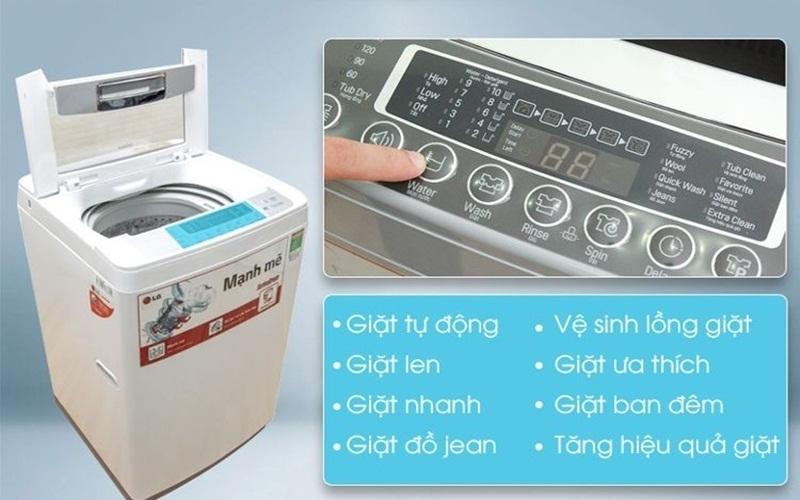 Đánh bay mọi vết bẩn len lỏi trong từng sợi vải với  các chế độ giặt hiện đại của máy giặt LG WF – S8019BW