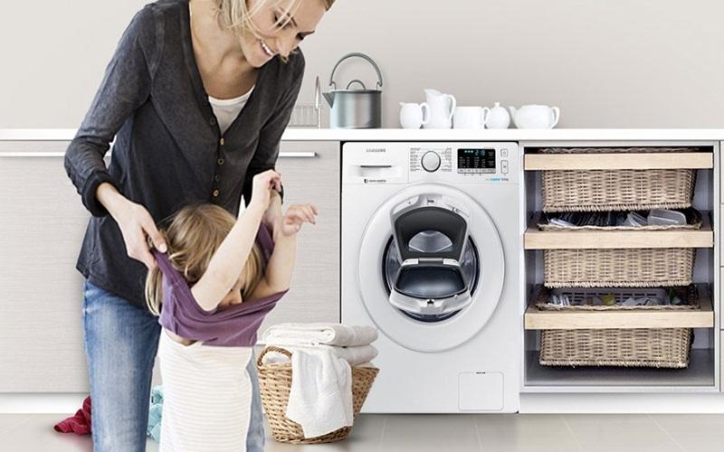 Máy giặt Samsung WW80K5410WW  cho quần áo luôn sạch sẽ tinh tươm