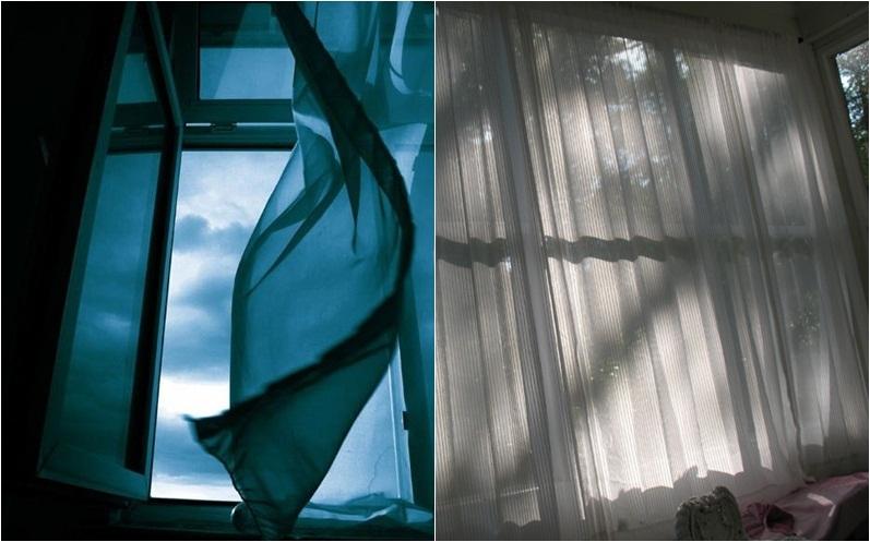 Không khí sẽ đỡ nóng hơn nếu bạn mở  cửa sổ vào buổi tối và đóng rèm cửa vào ban ngày