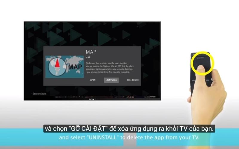 Gỡ bỏ nhưng ứng dụng không cần thiết của smart TV