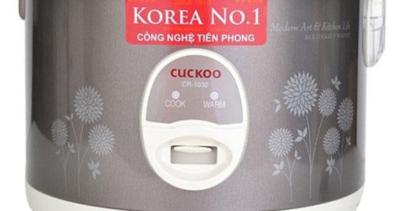 Nồi cơm điện Cuckoo CR-1032 nút điều chỉnh bằng cơ dễ sử dụng