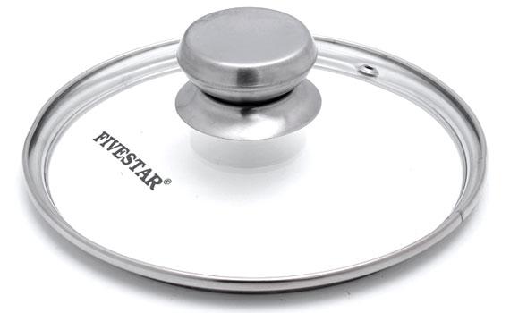Nồi inox Fivestar N16-3DG có nắp nồi bằng kính chịu nhiệt