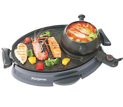 Lẩu nướng BBQ Kangaroo KG95 chức năng 2 trong 1, loại nào tốt