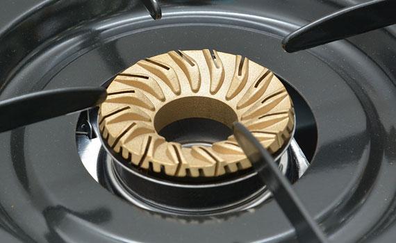 Bếp gas Rinnai RV-6Double Glass (L) có đầu đốt bằng đồng