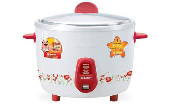 Nồi cơm điện Sharp KSH-206V 0.6 lít giá rẻ tại nguyenkim.com