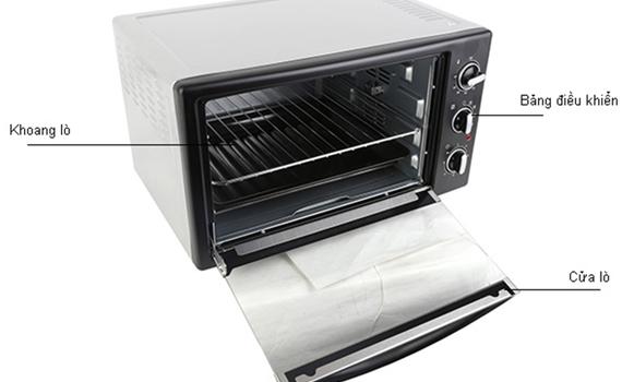 Lò nướng loại nào tốt? Lò nướng Electrolux 38 lít EOT38MBB