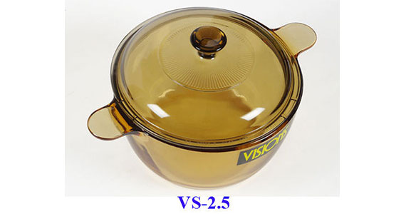 Nồi thủy tinh Visions 2.5L VS-2.5 chịu được sốc nhiệt tiện lợi